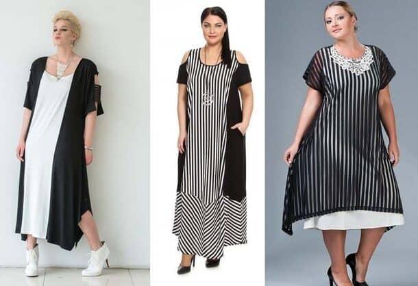 Стильные платья для полных девушек и женщин